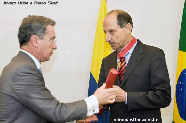 Álvaro Uribe e Paulo Skaf