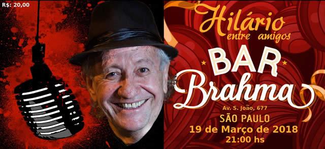 Cantor Hilário de Souza faz show único no Bar Brahma - Centro