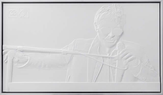 Exposição - fotografias em 3D - deficientes visuais - Museu da Fotografia - Curitiba - Gabriel Bonfim