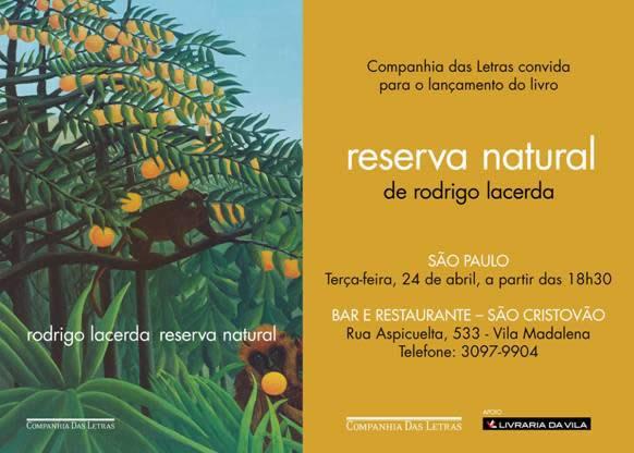 24/04 - reserva natural, de Rodrigo Lacerda - Vila Madalena, SP