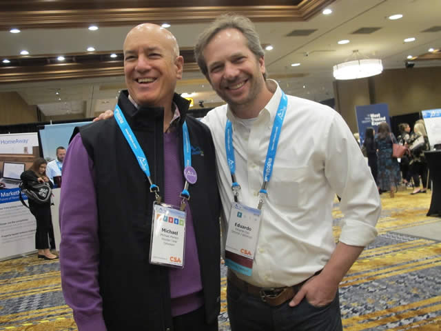 Eduardo Gaz (Ski Brasil) e Michael J. Pierson (Managing Director Mountain Travel Symposium)