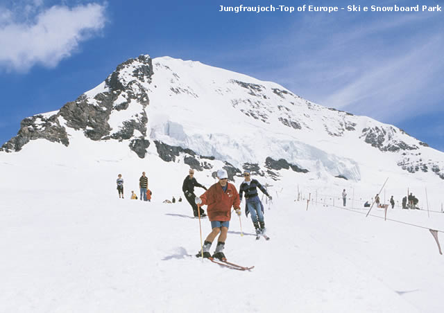 Jungfraujoch Top of Europe Ski Snowboard Park
