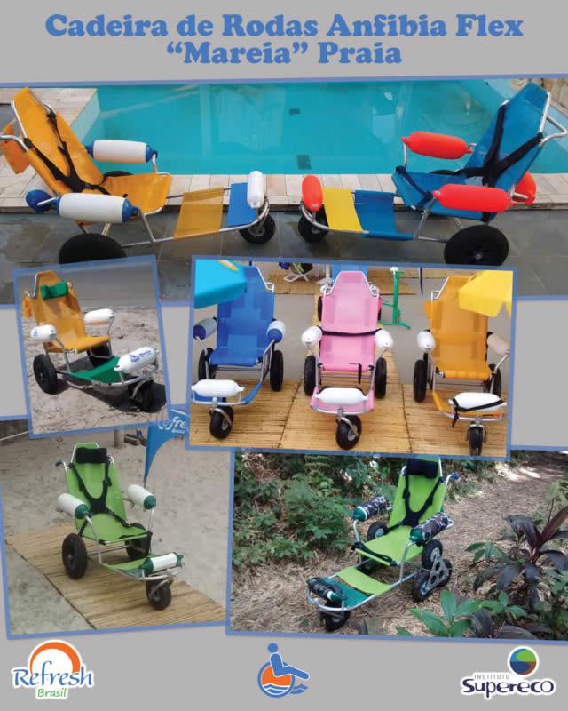 Cadeira de Rodas Anfíbia Flex Mareira Praia - Divulgação