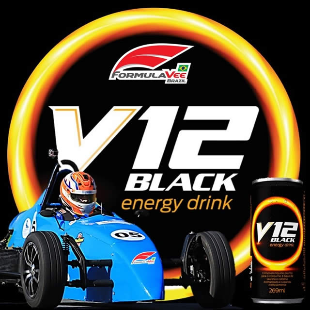 V12 Black Energy Drink - Fórmula Vee