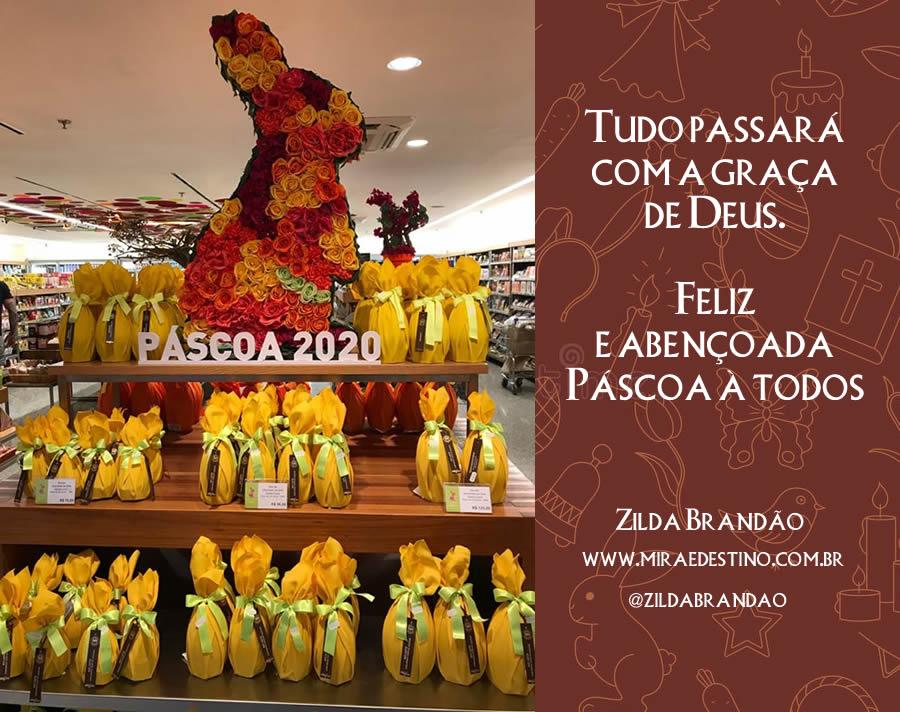 Feliz Páscoa 2020 - Por  Zilda Brandão