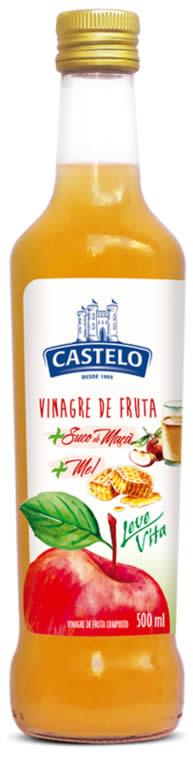 Vinagre de Fruta Maçã com Suco de Maçã e Mel Castelo Leve Vita: