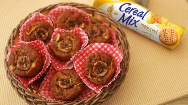 Muffin de Banana com Cereal Mix Triunfo