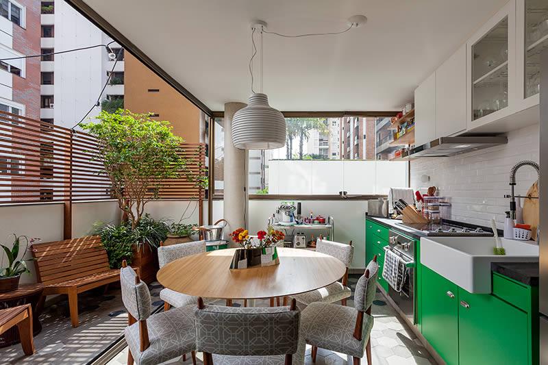 Home Office - varanda Gourmet - Decoração - Design - Casa - Estilo Moderno