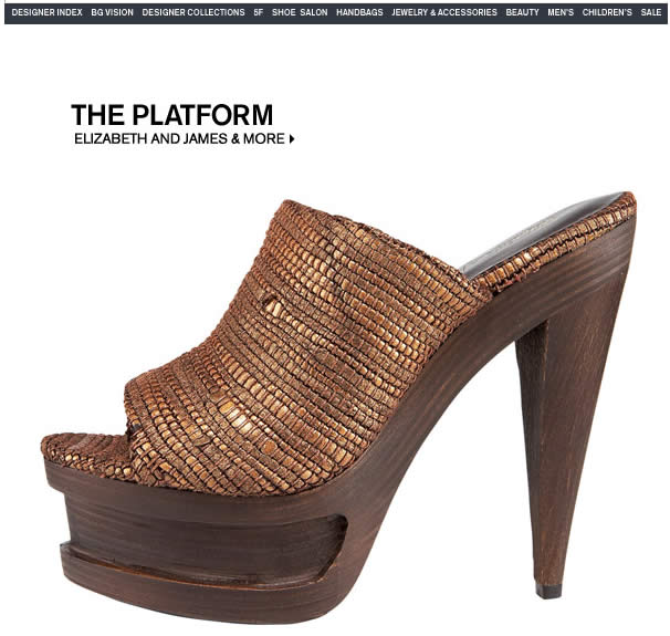 Bergdorf Goodman - The new Spring platforms