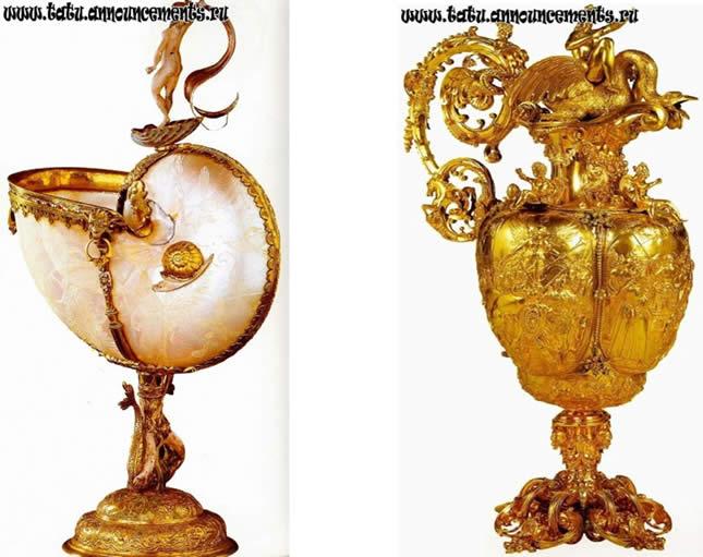 ARTE EM CONCHAS- peças feitas na Russia nos tempos imperiais