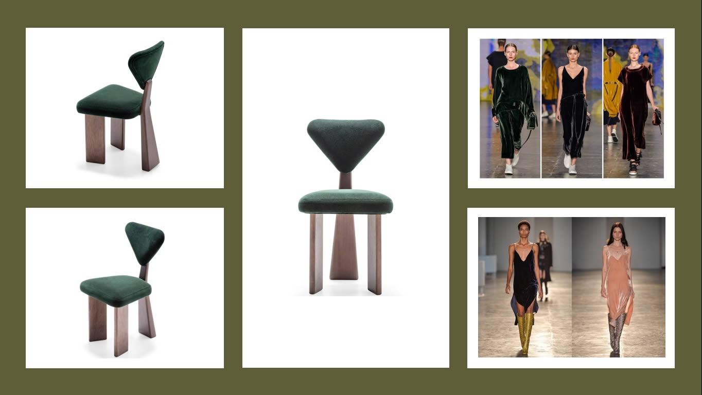 Juliana Vasconcellos - ARTI - moda - design de mobiliário - veludo